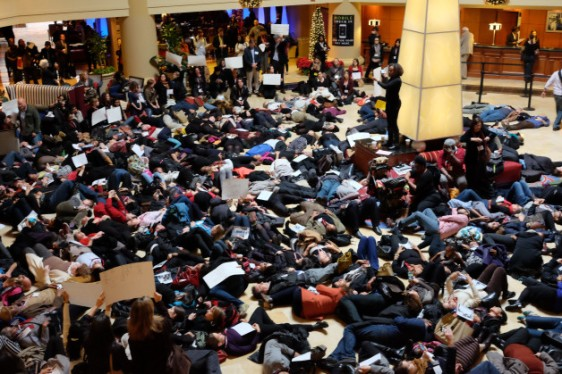 """Die-in at AAA 2014"" Courtesy Richard Freeman ©2014"